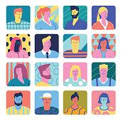 Set of people avatars