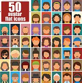Set of people icons