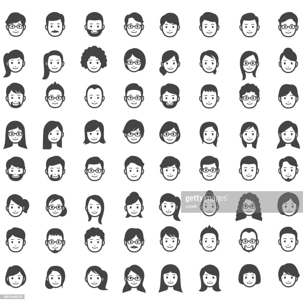 Set of people icons : stock illustration