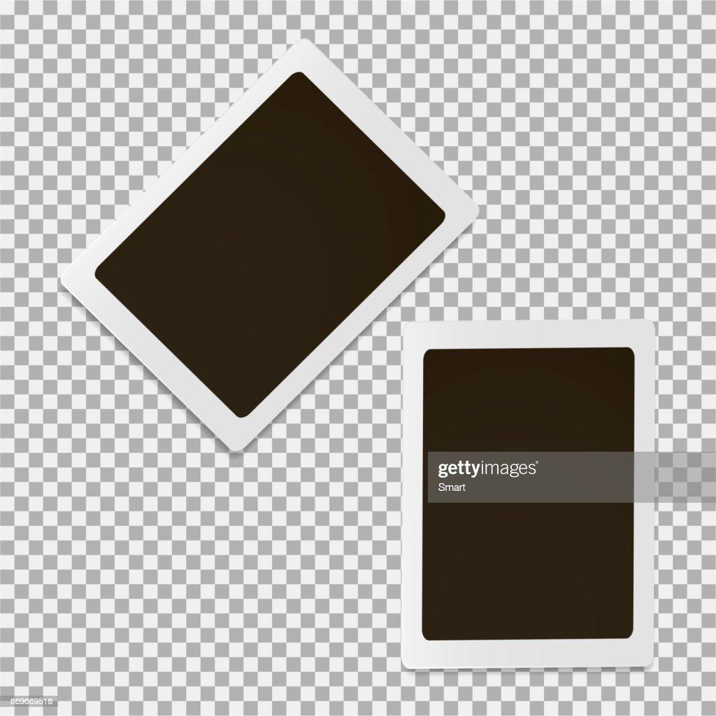 Set of photo frame on a grey background