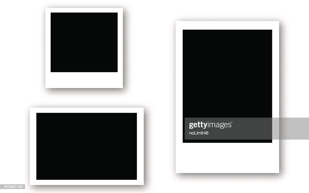 Set of photo frames with tape