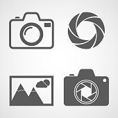 Set of photo icons. Vector illustration