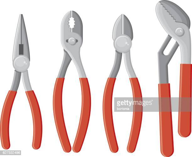 Set of plier icons