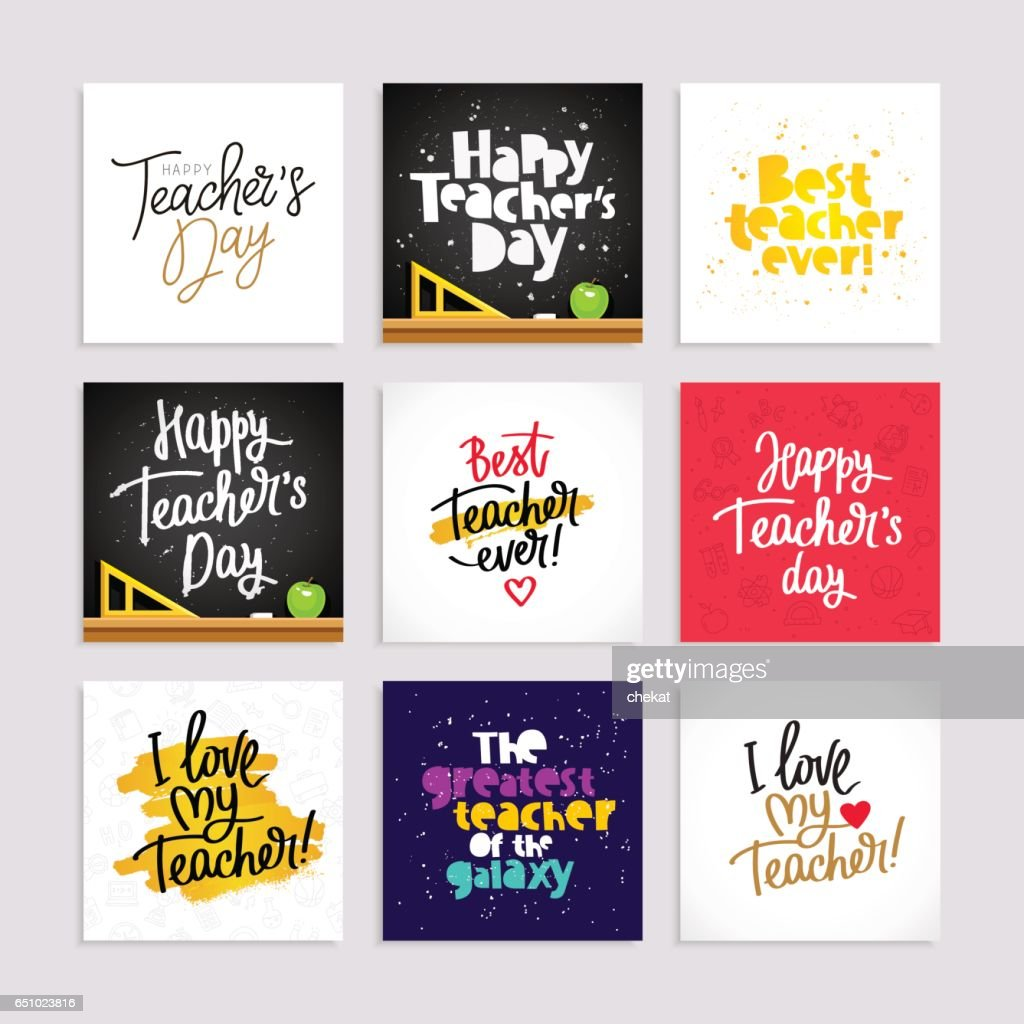 Set of postcards for the Teacher's Day