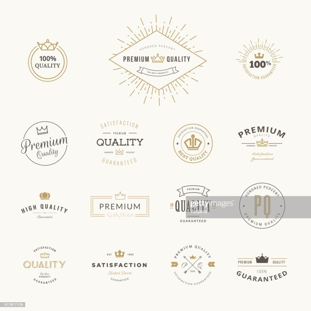 Set of premium quality stickers and elements