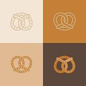 Set of Pretzel icon