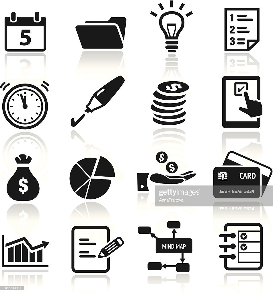 Set of productivity icons