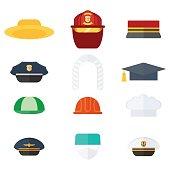 set of professional hats