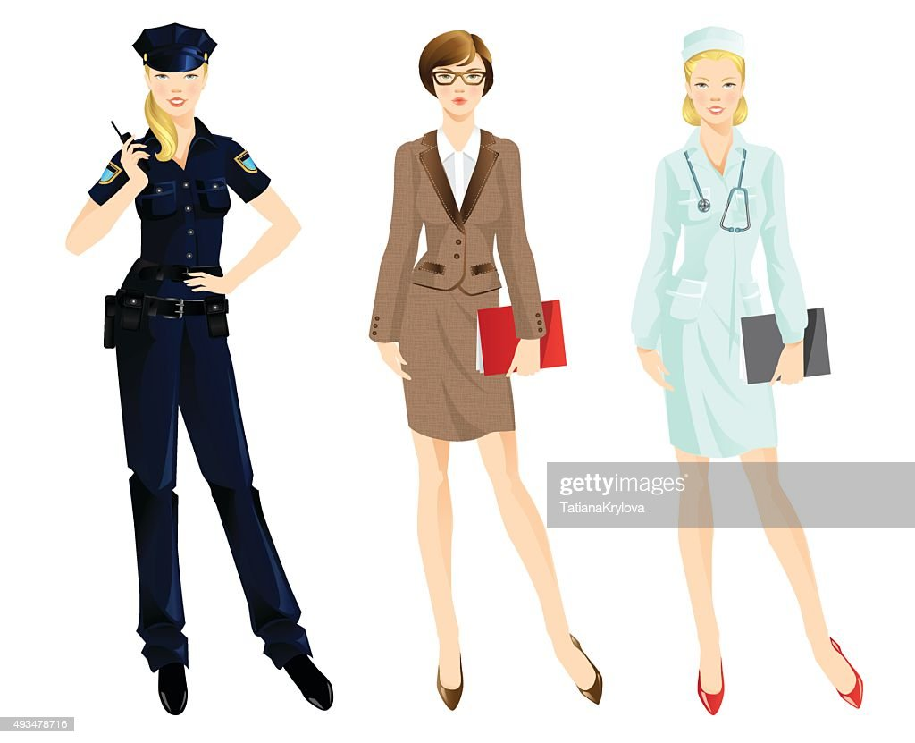 Set of professional woman