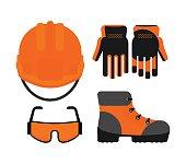 Set of protectiv work wear