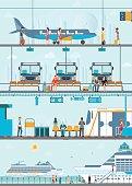 Set of public passenger transport .