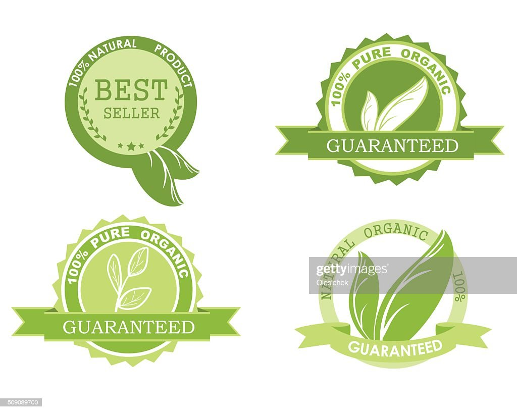 Set of quality guarantee icons