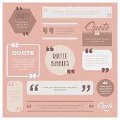 Set of quote bubbles