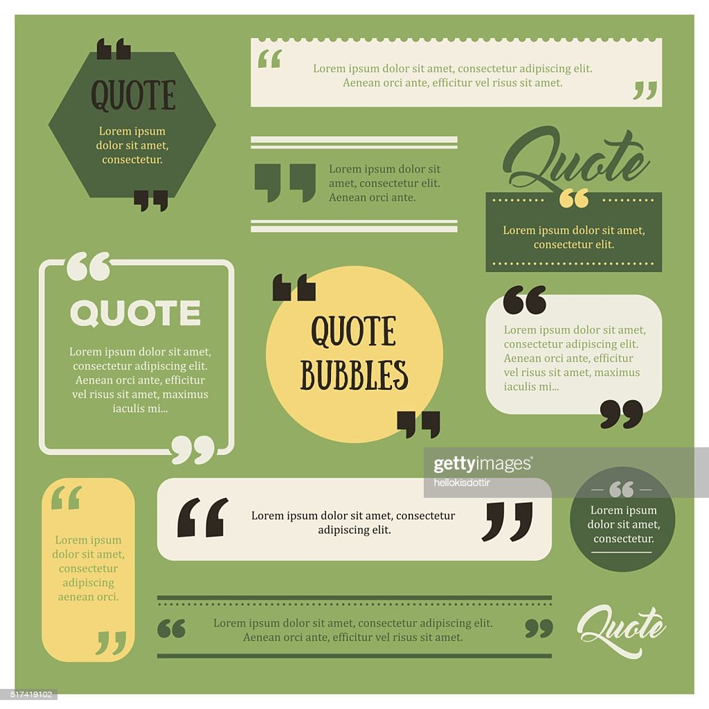 Set of quote bubbles