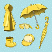set of rainy day.vector illustration