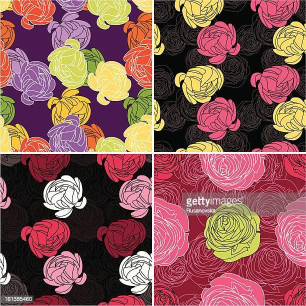 Set of Ranunculus Pattern