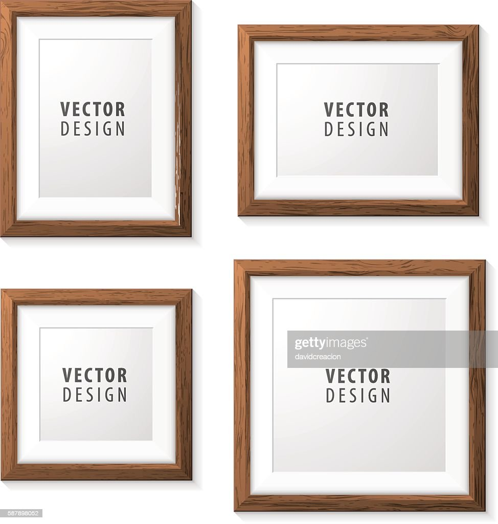 Set of Realistic Minimal Isolated Wood Frames.