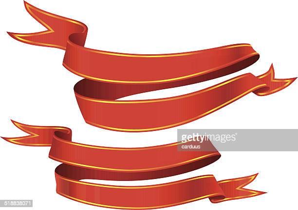 stockillustraties, clipart, cartoons en iconen met set of red banners - sjerp