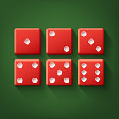 Set of red dice