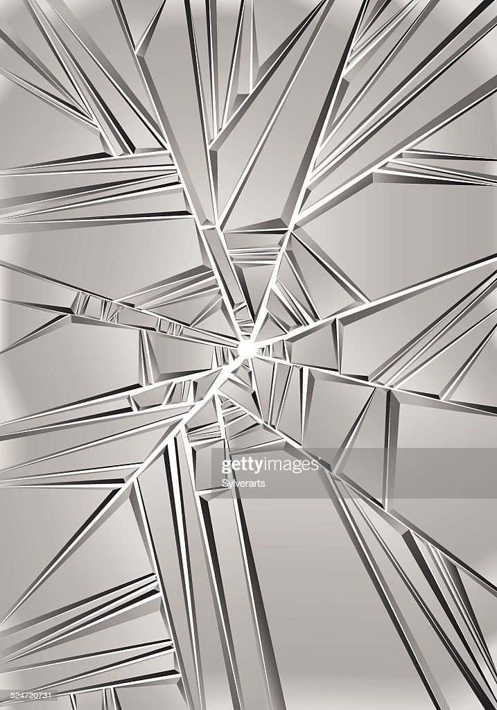 Set of reflective glass pieces, broken mirror.