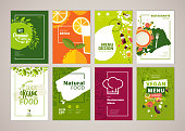 Set of restaurant menu, brochure, flyer design templates in A4 size