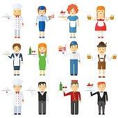 set of restaurant staff