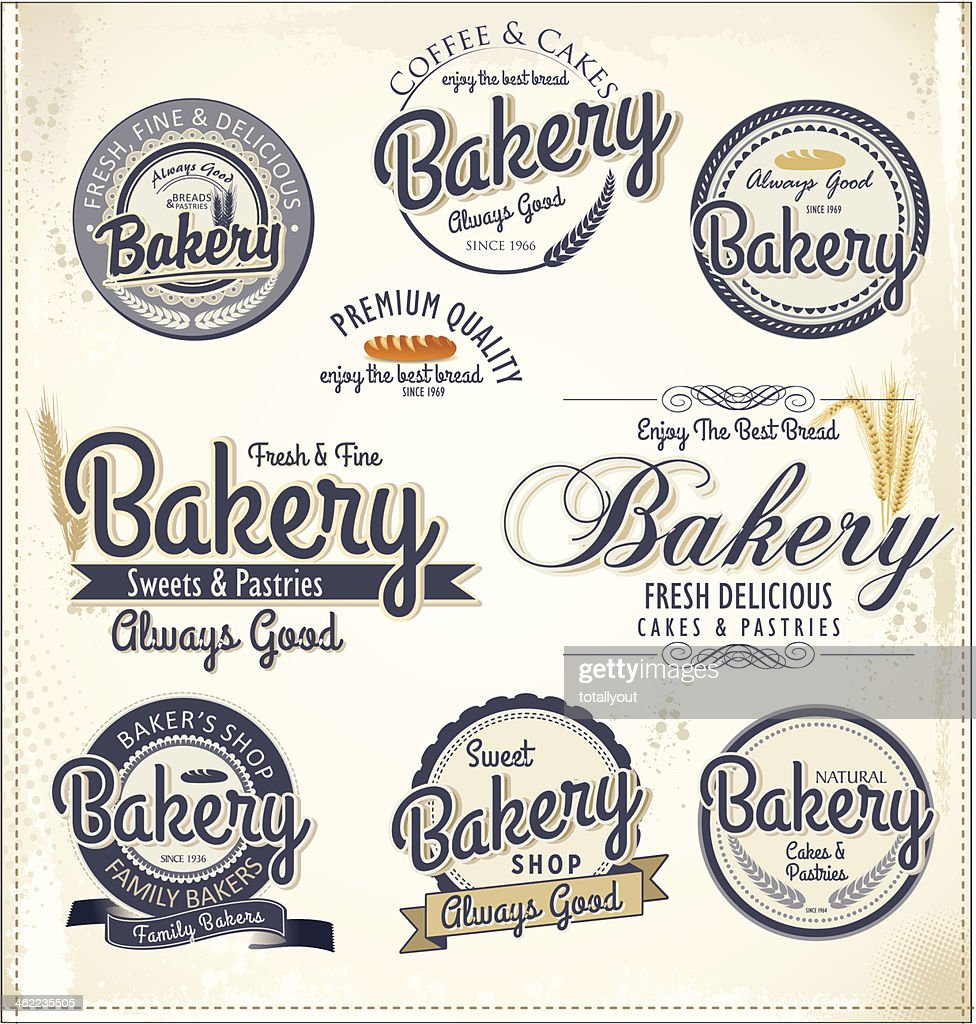 Set of retro bakery badges and labels