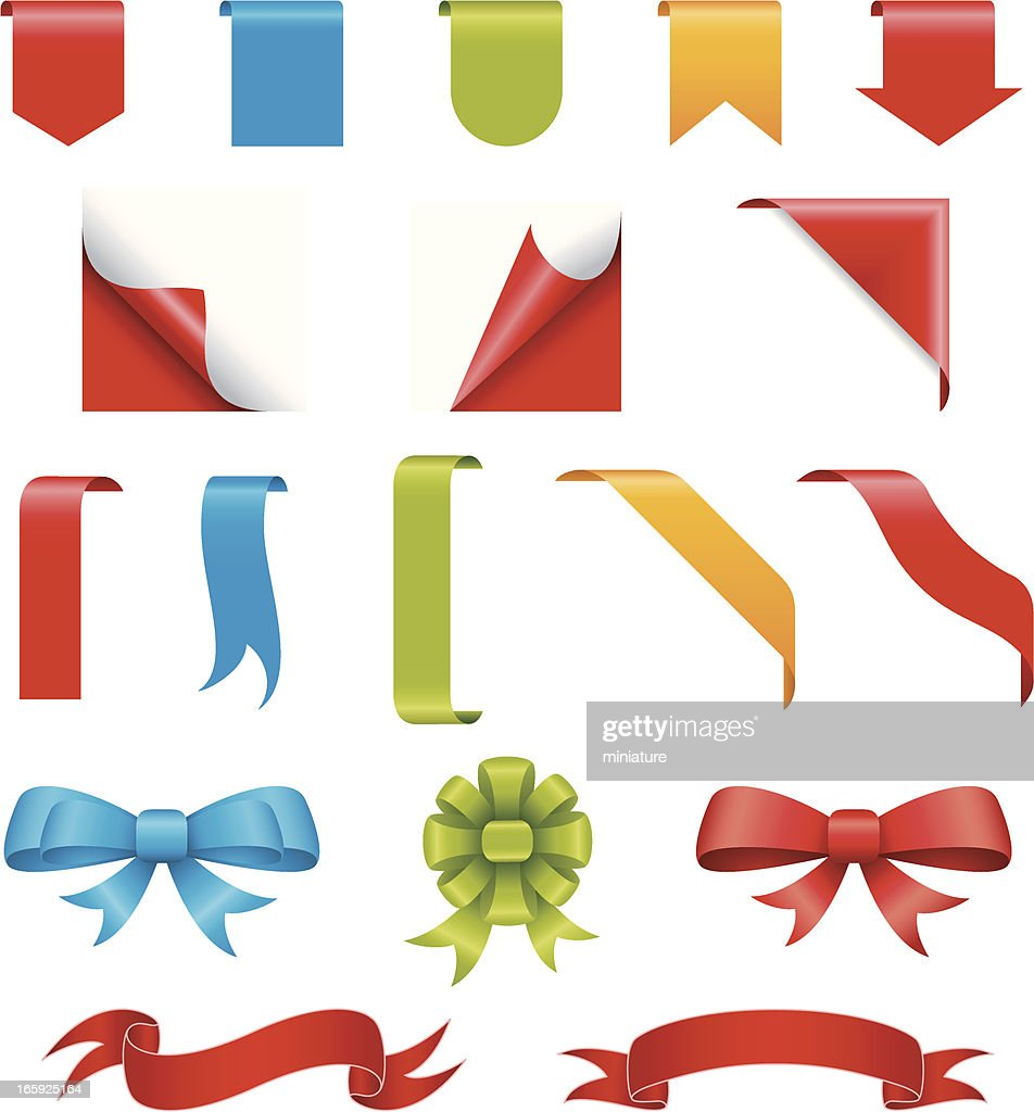 Set of ribbon elements