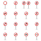 Set of road signs. vector