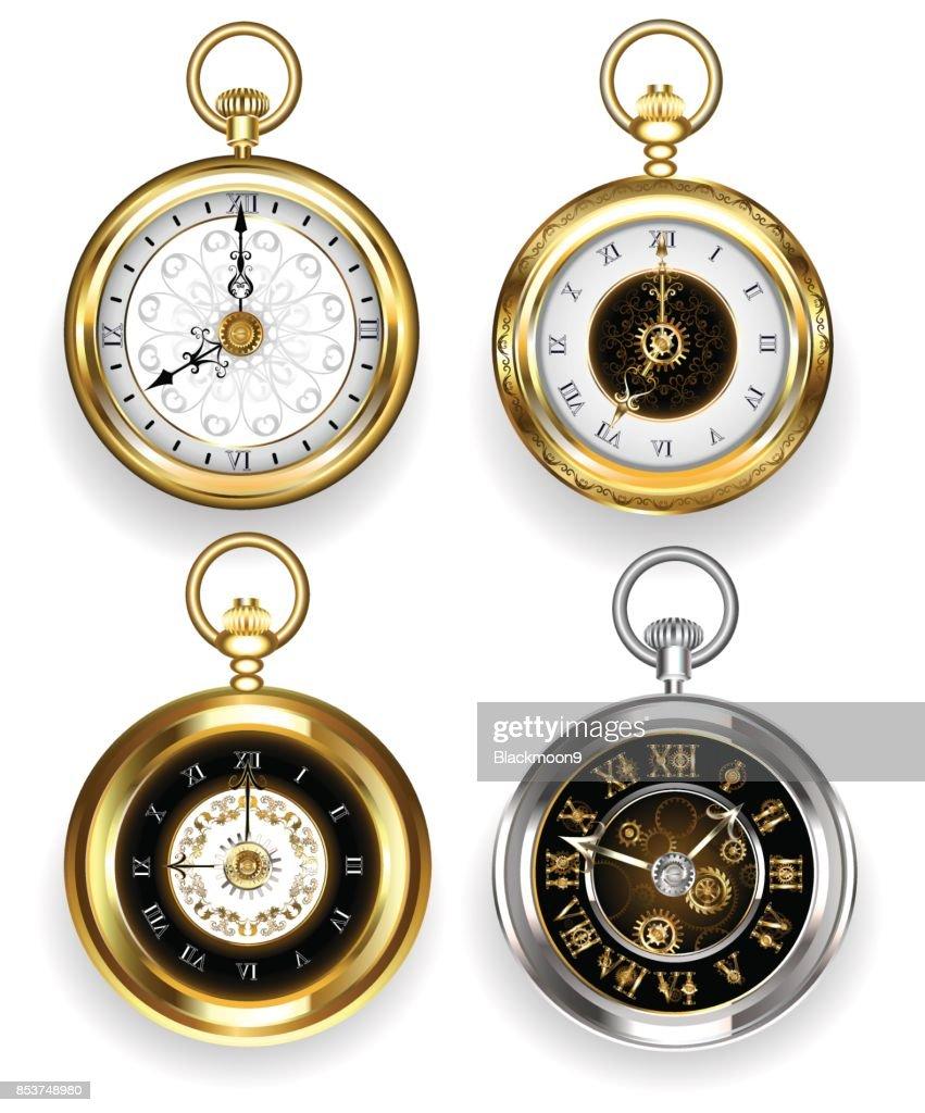 Set of round clock