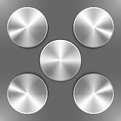Set of round silver disks