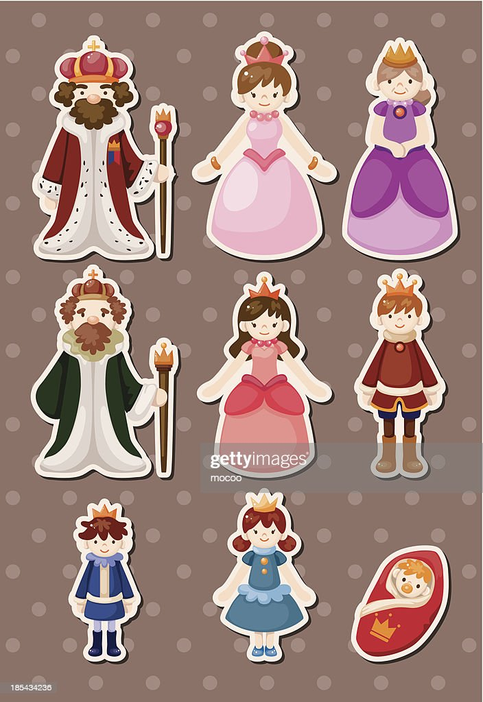 set of Royal people syickers