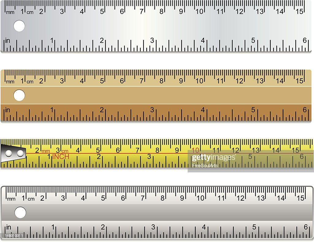 set of rulers and measuring tape