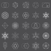 Set of Sacred Geometry Icons
