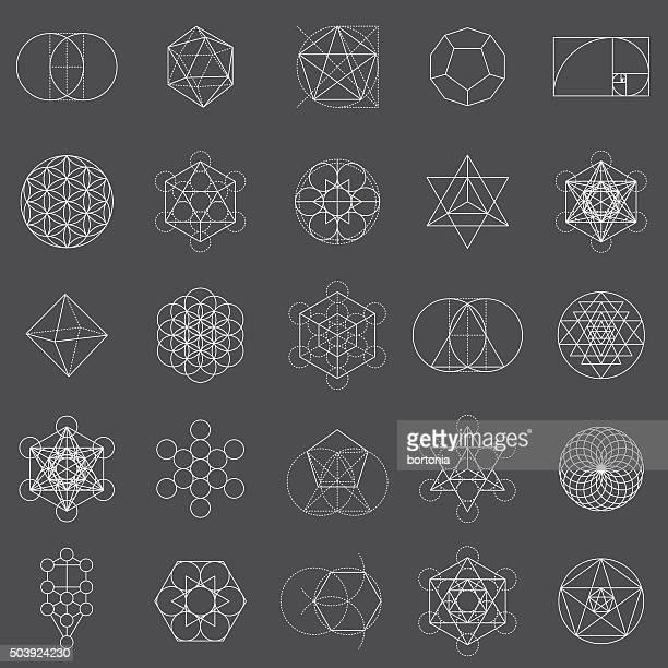 Conjunto de iconos de geometría Sagrada