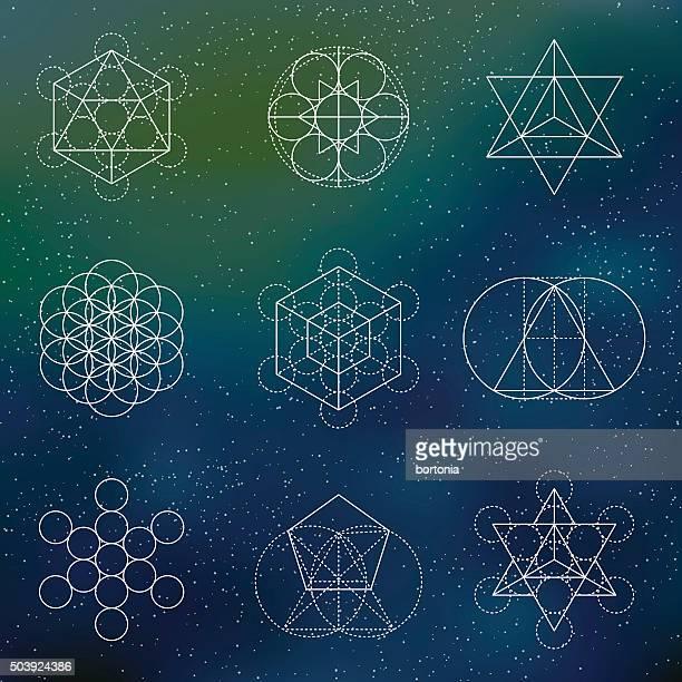Set of Sacred Geometry Icons