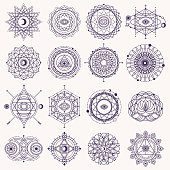 Set of Sacred Geometry Signs