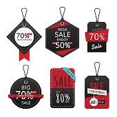 Set of sale banner. Sale Labels.