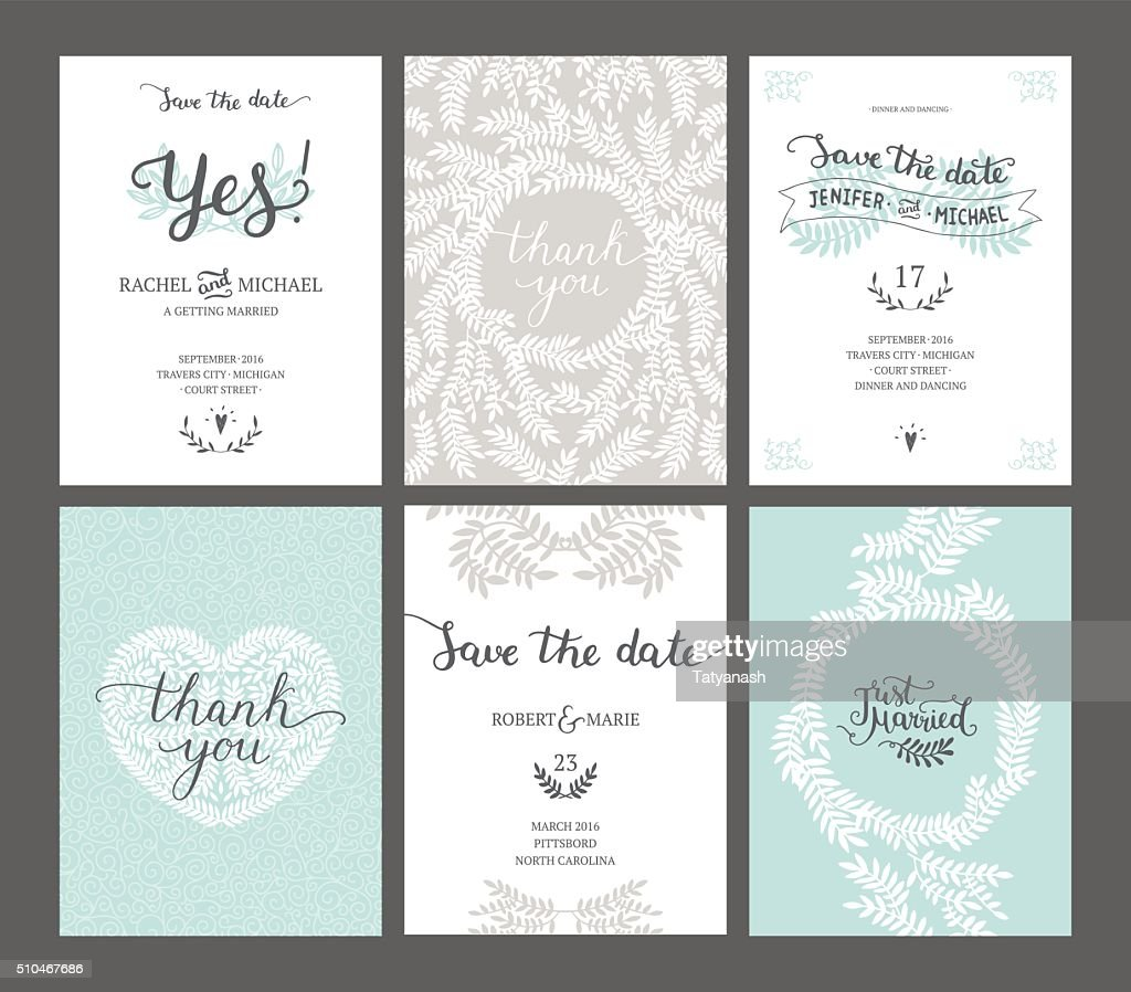 Set of Save the date cards