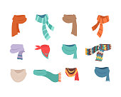 Set of Scarves for Cold Weather to Boys and Girls