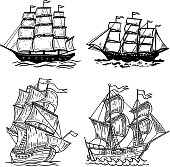 Free download of Galleon Sail Ship clip art Vector Graphic