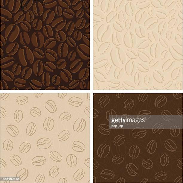 Set of seamless coffee patterns