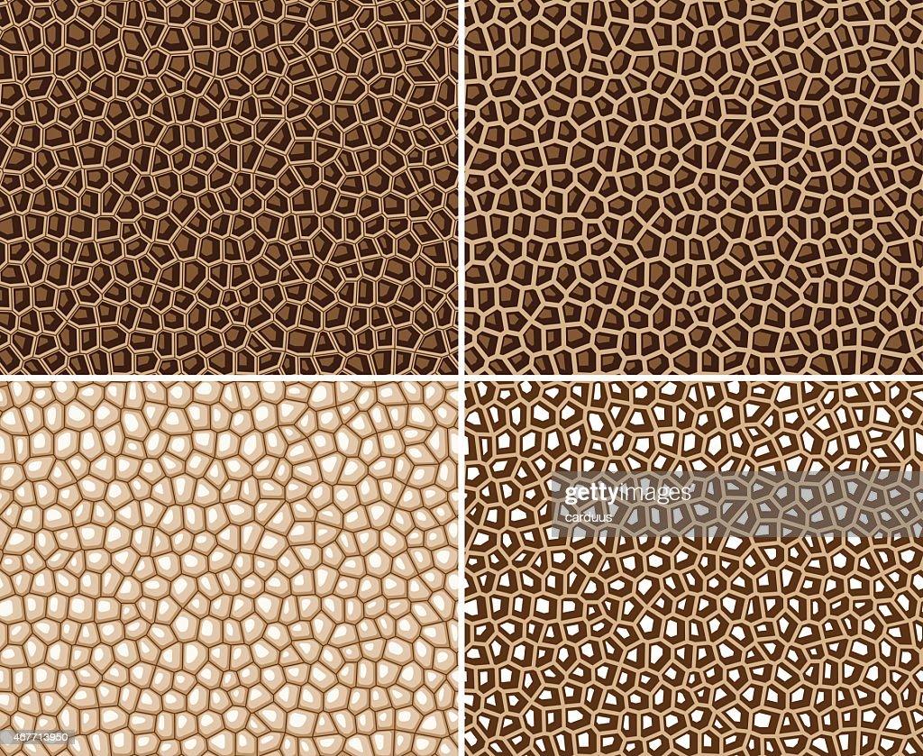 set of seamless geometrical  pattern