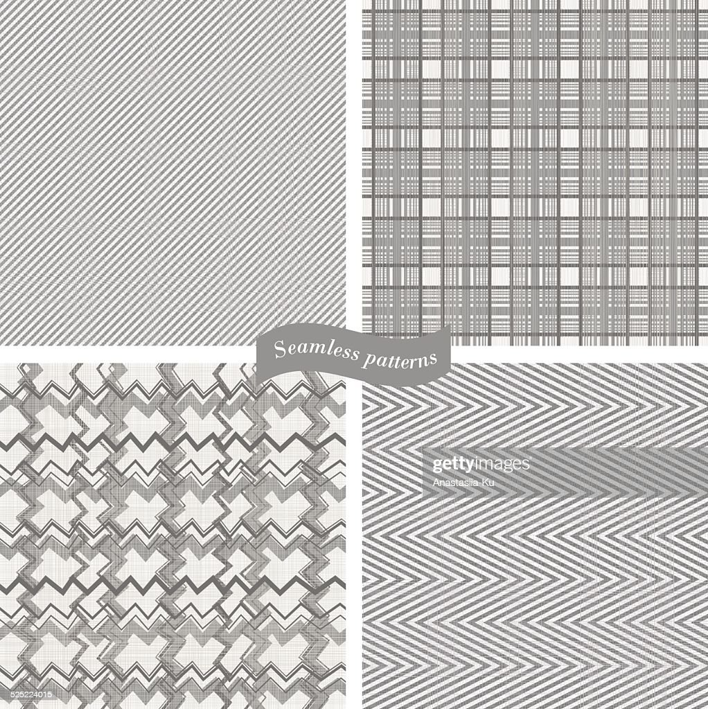 set of seamless  patterns on texture background
