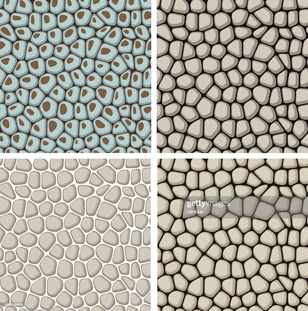 set of seamless stone patterns