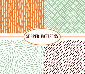 Set of seamless stroke patterns.