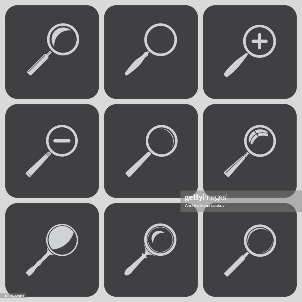 Set of search find lupe icones