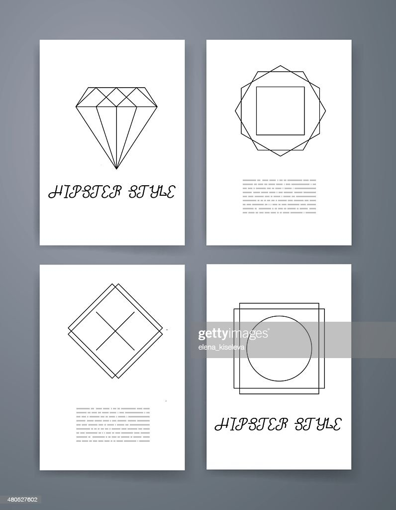 Set of sharp mistical line logos : Vectorkunst