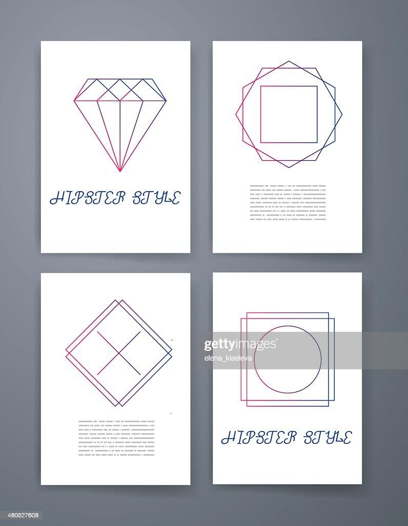 Ensemble de sharp mistical ligne logos : Clipart vectoriel