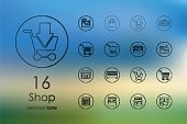 Set of shop icons